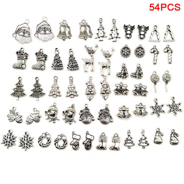 54x/Set Tibetan Silver Mixed Christmas Charms Pendant Jewelry DIY Craft Makin ZL
