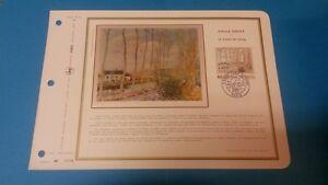 FRANCE DOCUMENT ARTISTIQUE YVERT 1812 ALFRED SISLEY PEINTRE PARIS 1974  L667