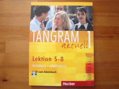 1 von 1 - Hueber Tangram aktuell 1 – Lektion 5–8, Kurs-/Arbeitsbuch mit Audio-CD, A1/2