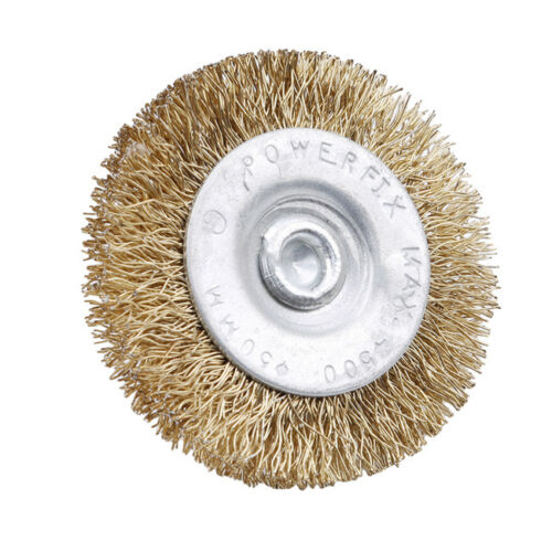 Wire Brass Brushes Polishing Brush Cup Grinder Wheels Set for Dremel Rotary SL