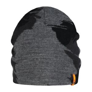 76b9d306e7b Guru Skull Cap Black Grey Beanie Hat GBH07 Reversible Beanie Hat ...