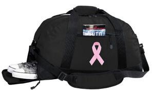 Pink Ribbon Duffel Bag BEST DUFFLE GYM Travel BAGS