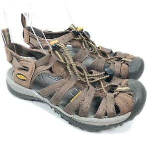4d719ec79153 Keen Women s 7 Whisper Brown Waterproof Outdoor Sport Hiking Sandals ...