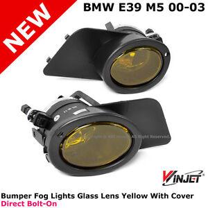 Bmw E39 M5 00 03 Winjet Bumper Fog Lights Lamps Yellow
