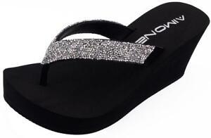 AIMONE-Womens-Rhinestone-Ornamented-Flip-Flop-Thong-Casual-Beach-Sandals