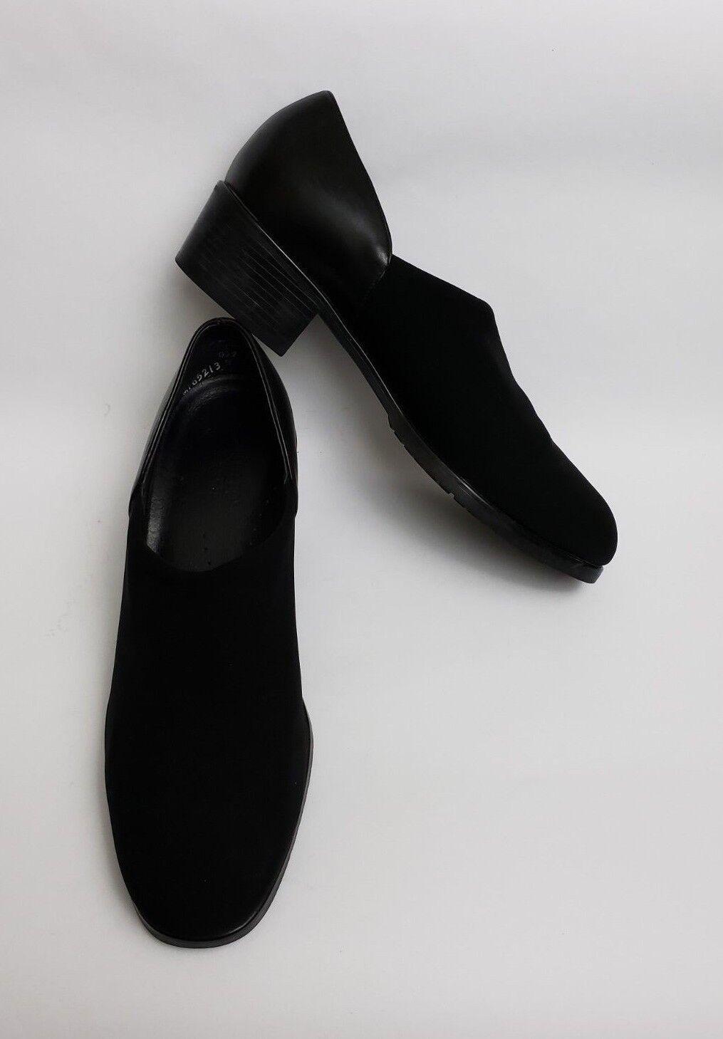 Munro Zapatos Tacones Antideslizante En Tela Superior De Cuero Cuero Cuero Negro EE. UU. para mujer Talla 8.5 M  salida de fábrica