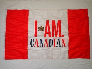 i am canadian flag banner 60 x 35 molson beer canada 2017 team