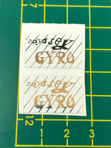 old school bmx decals stickers odyssey gyro cable decals pair white chrome