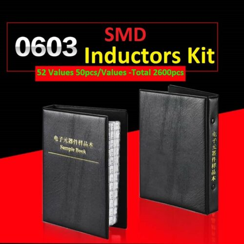 0603 SMD//SMT 5/% L0603 Components Samples Book Inductors Assorted Kit 52 Values