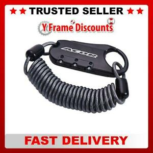 Acor 3 Digit Tough Durable Steel Cable Cycle Bike Luggage Mini Lock 3mm x 1500mm