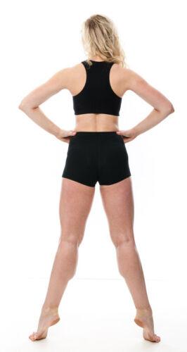 Mesdames En Coton Noir Filles Danse Gym Sport Dos Nageur Crop Top kctc-5 par KATZ