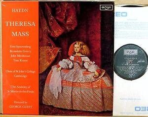 Argo Decca Uk Haydn Guest Theresa Mass Spoorenberg Greevy Krause Zrg 5500 Ebay