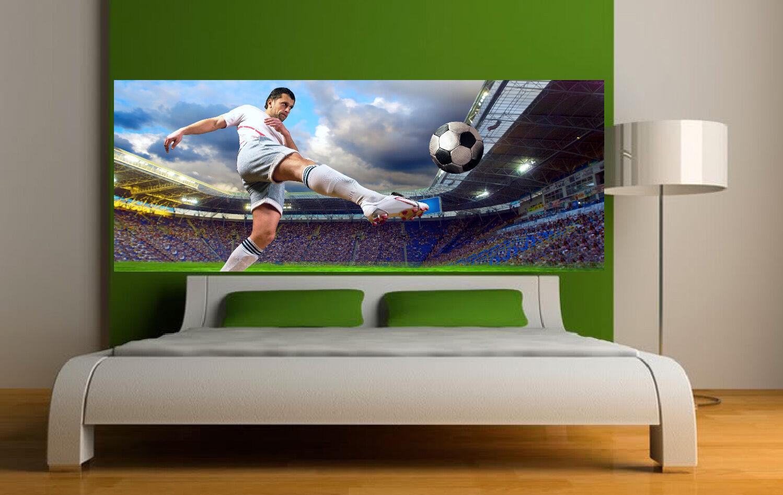 Aufkleber -kopf Bett Wanddekor Fußballer 3691 (5 Größe)