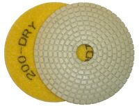 "4"" ADT Dry Diamond Polishing Pad - 200 grit"