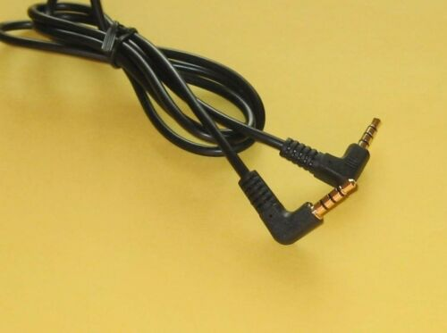 2 ft 3.5mm Shielded 4 Conductor Audio Cable with Right Angle Male to Male Gold @