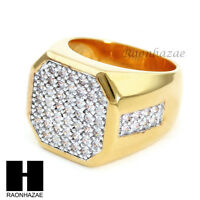 Men Bling Bling Iced Out Hip Hop Ring Lab Diamond Ring Size 8 - 12 Sr016cl