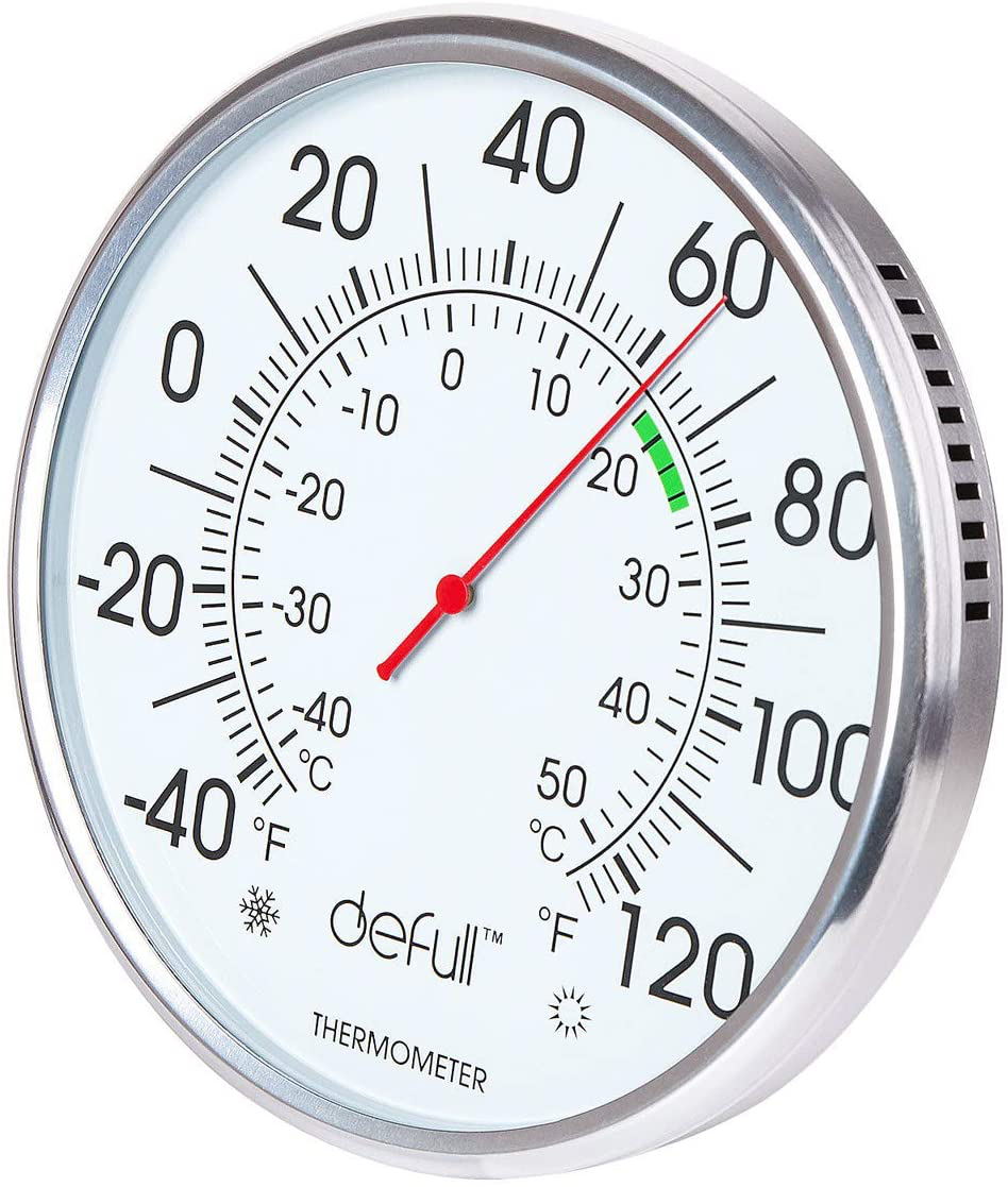 defull 8 inch Extra Large Dial Thermometer High Precision Indoor Outdoor Thermom