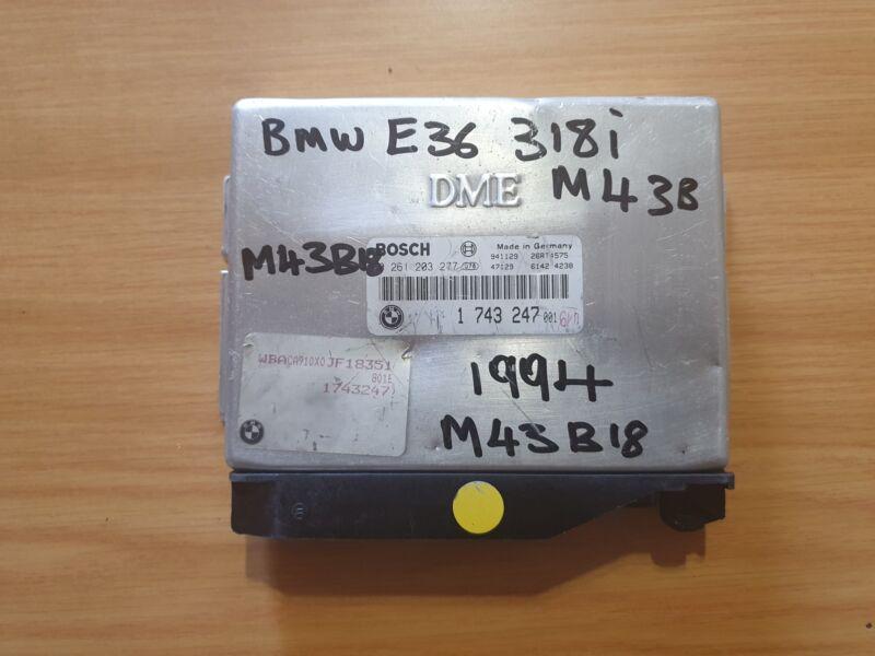 BMW E36 318i M43 1994 Bosch ECU with part#DME 1 743 247