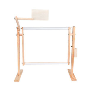 Needlework-Stand-Lap-Table-Embroidery-Hoop-Frame-Cross-Stitch-Sewing-Tool-D8Y