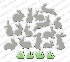 Impression Obsession Mini Bunnies Steel Die DIE269-N