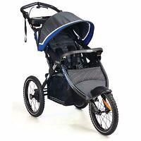 Blue Jogging Stroller Pram Kolcraft Infant Baby Toddler Boy Travel Lightweight