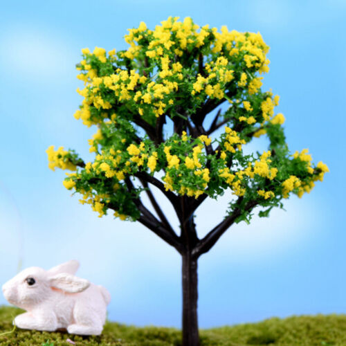 2X Miniature Sakura Tree Plants Fairy Garden Accessories Dollhouse Ornament 0cn