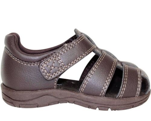 NEW Garanimals Infant Toddler Boys Faux Brown Leather Fisherman Sandals 2 3 4