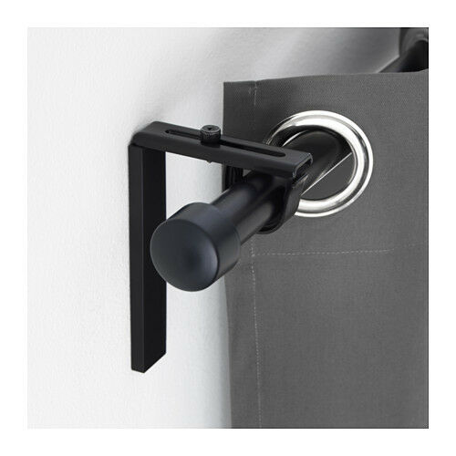 IKEA BETYDLIG CURTAIN ROD HOLDER AND WALL CEILING BRACKET WHITE BLACK SILVER