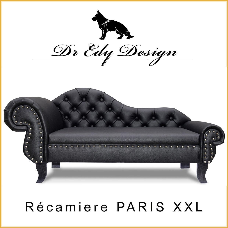 Hundesofa Chesterfield Recamiere PARIS XXL Couch Hundebett Chaiselongues LUX