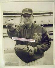 NY Mets Original AP photo Jack Fisher 1st game at Shea Stadium April 17, 1964