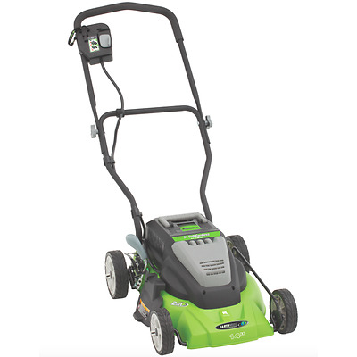 Earthwise Lawn Mower Cordless 14-Inch 24-Volt Side Discharge / Mulching