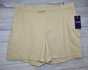 dd2452eb023 Image is loading Chaps-Sailor-Bay-Cotton-Blend-Dress-Shorts-Women-