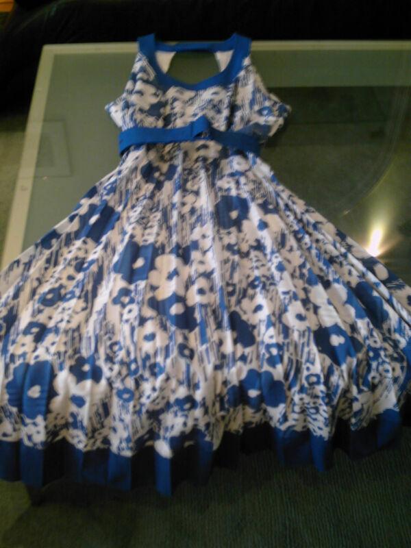 GroßZüGig Vintage Damen Kleid Gr. 40 Alt 60er Jahre
