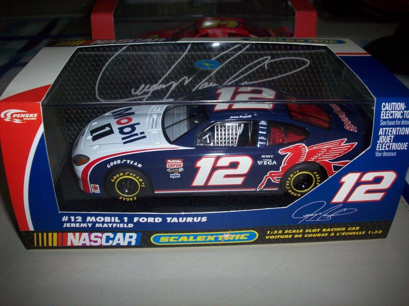 Scalextric Rare C2348 Mobil 1 Ford Taurus Jeremy Mayfield NMIB Nascar
