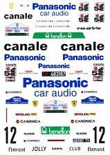 #12 Panasonic Ferrari 308GTB 1982 1/43rd Scale Slot Car Decals Custom label:  1