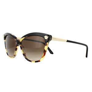 bb60756e674 Image is loading Versace-Sunglasses -VE4313-517713-Black-Havana-Brown-Gradient
