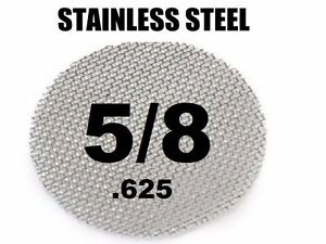 "250 x Stainless Steel Tobacco Pipe Screens 5/8"" .625"" Size"