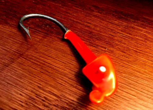 Laker Lures 1//4-ounce Orange Jig Heads Fishing Lures 10-pack
