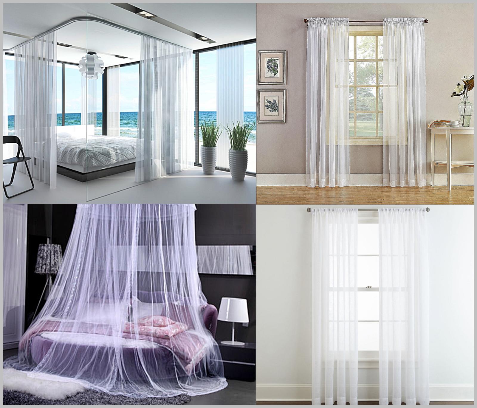 2 Große Weiße Spitze Platten für Betten Fenster Vorhang Je 279cmx 249cm