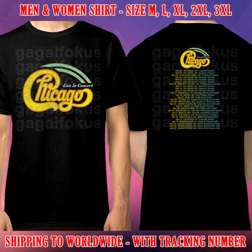 CHICAGO TOUR DATES 2020 BLACK SHIRT SIZE M-3XL GALFOK FREE