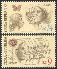 Czech Republic 1995 Europa/Peace/Freedom/Butterfly/Rose/Women 2v set (n40945)