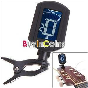 LCD-ENO-ET33-Clip-On-Digital-Chromatic-Guitar-Bass-Violin-Ukulele-Tuner-New