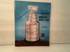 1967 St Louis Blues vs Minnesota North Stars 1st Ever Game Program 10-11-67