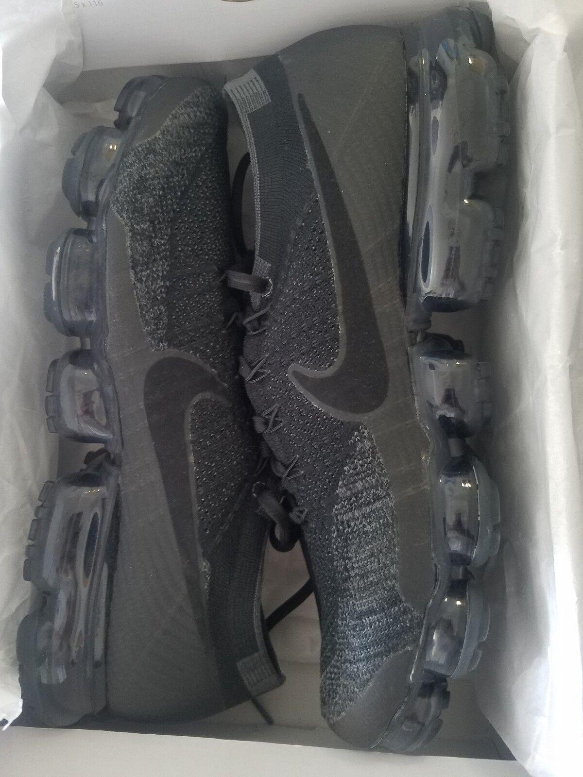 Nike Air VaporMax Flyknit Men's Black Anthracite Dark Grey 49558007