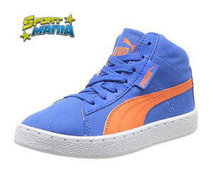 Puma '48 Mid Canvas Jr Blu Ragazzo Scarpe Shoes Sportive Sneakers 358202 01