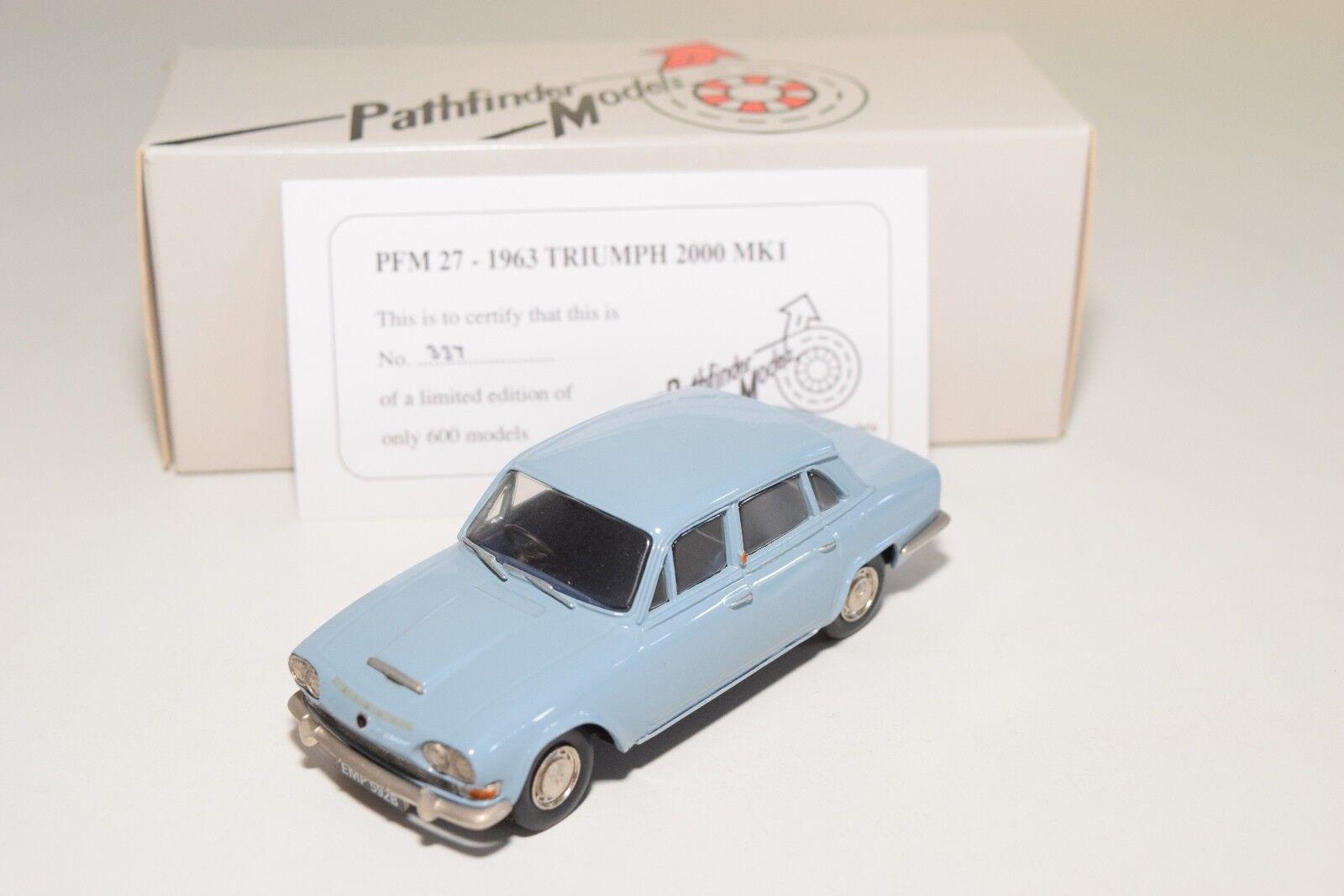 preferente  PATHFINDER MODELS PFM27 PFM 27 1963 TRIUMPH TRIUMPH TRIUMPH 2000 MKI azul MINT BOXED 337 600  ahorrar en el despacho