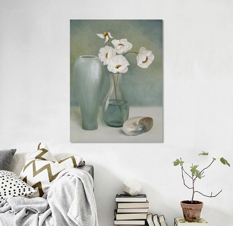 3D grey Vase 266 Wandbild Fototapete Bild Tapete Familie AJSTORE DE