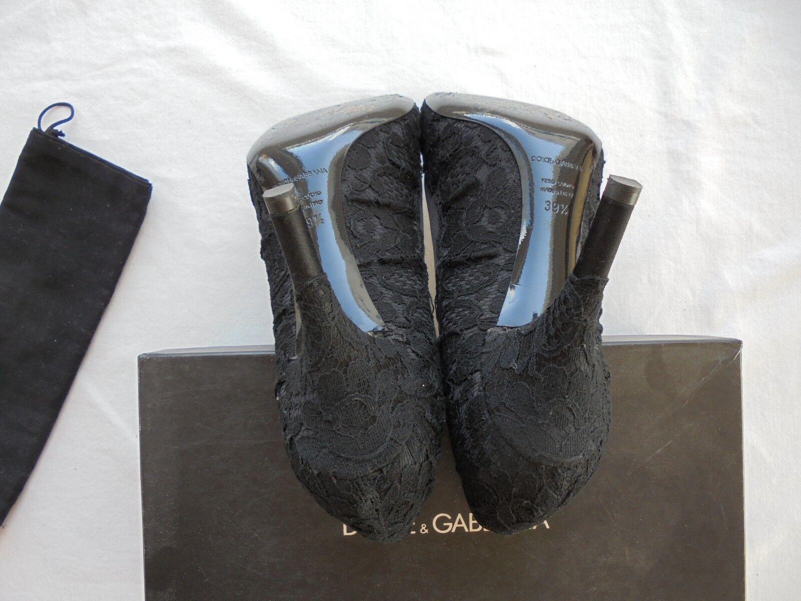 Dolce&Gabbana Spitze Leder High NEU Heels NP:  w NEU High Pumps Schuhe Gr. 39 39,5 40 a200c7