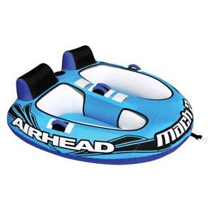 Airhead-AHM2-2-Mach-2-Inflatable-2-Rider-Cockpit-Lake-Water-Towable-Tube-Blue
