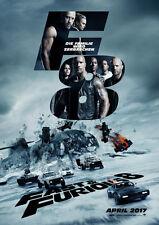 FAST & FURIOUS 8 - Orig.Kino-Plakat A1 - Hauptmotiv Vin Diesel - Gerollt